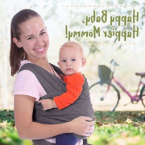 Baby Wrap Stretchy Ergo - Ergonomic Baby Sling - Infant Carrier Babys - Free - Best Baby Gift - One Size Fits All