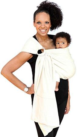 Maya Wrap Lightly Padded Ring Sling Baby Carrier - Natural -