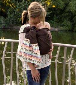 Snuggy Baby Linen Banded Ring Sling Baby Carrier in Rainbow
