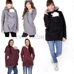 Maternity Baby Carrier Womens Hoodie Jacket Casual Sweater M