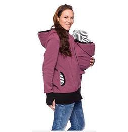 Evey & Jaxten Women Maternity Cotton Dual-Zipper Kangaroo De