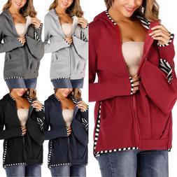 Maternity Hoodie Jumper Zip Baby Carrier Outwear Coat Jacket