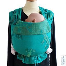 DIDYMOS Meh-Dai/Mei Tai  Baby Carrier Geckos Emerald , One S