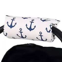Navy Blue Anchor Car Seat and Baby Carrier Cushion by The Pe
