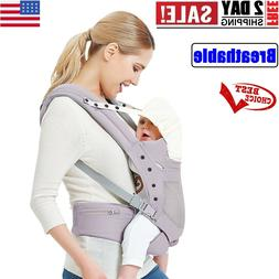 NEW Baby Wrap Carrier with Adjustable Hip Seat, Hood, Soft &