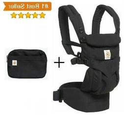NEW Ergobaby Omni 360 Carrier 100% Pure BLACK All Carry 4 Po