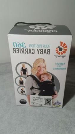 New Ergobaby Pure Black Four Position 360 Baby Carrier