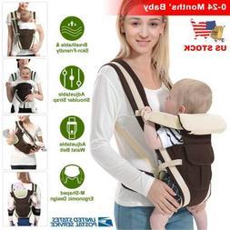Newborn Baby Carrier Sling Wrap Backpack Ergonomic 4 Positio