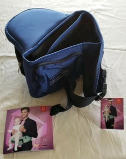 NIP Bebamour & Bebear Hip Seat Baby Carrier Dark Blue with U