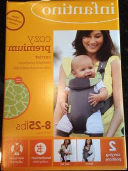 NWT Infantino Cozy Premium Grey Baby Carrier in Box 2 Carryi