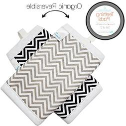 Kaydee Baby Organic Cotton Reversible Teething Chew Pads w/