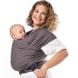 Boba Organic Baby Wrap Carrier - Dark Gray