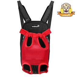 PAWABOO Pet Carrier Backpack, Adjustable Pet Front Cat Dog C