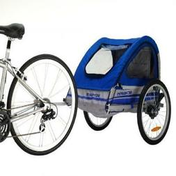 Pacific Cycle Schwinn Trailblazer Double Bicycle Trailer,Blu