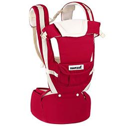 Beemoon 9-in-1 Ergonomic Baby Carrier with Hip Seat, Soft Ca