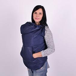 Spring/Autumn Navy Babywearing Coat Extender, Baby Carrier C