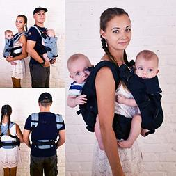 Malishastik Twins Baby Carrier Back Adapt Black
