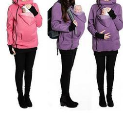 USA Babywearing Fleece Baby carrier hoodie Kangaroo coat jac