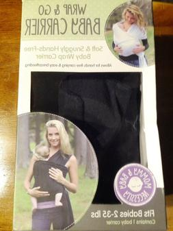 Woombie Wrap & Go Baby Carrier Newborn 2-35 lbs. heathered c