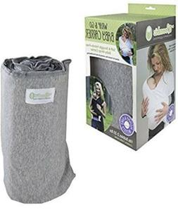 Woombie Wrap & Go Baby Carrier Newborn 2-35 lbs. heathered G