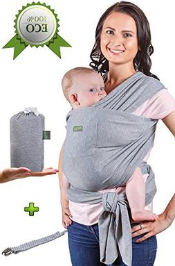 Baby Wrap Carrier - Baby Sling up to 35 lbs - Infant Wrap -